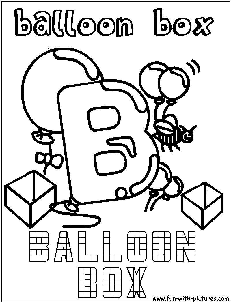 B For Balloon Box