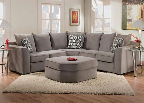 Roxanne Grey 2 Pc Sectional Sectionals Living Room Love This Living Room Sectional Living Room The Room Place