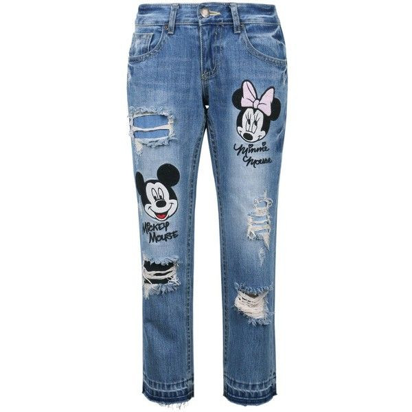 f2ebb3e8e Disney Mickey Minnie Mouse Vintage Washed Cotton Denim Jean Pants ...