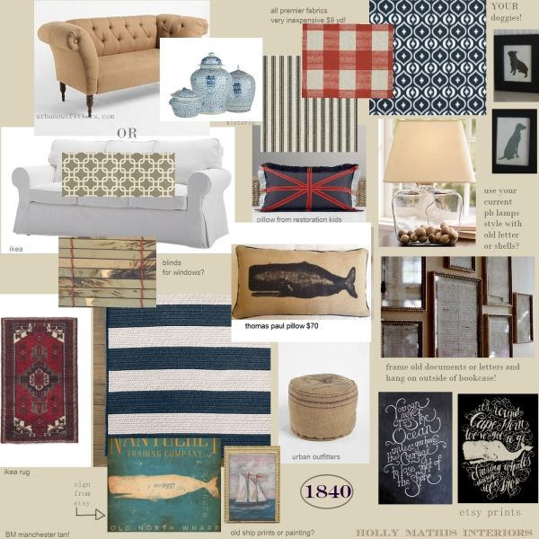 Hubby and i are brainstorming on a living room re do - Nautical theme living room ...
