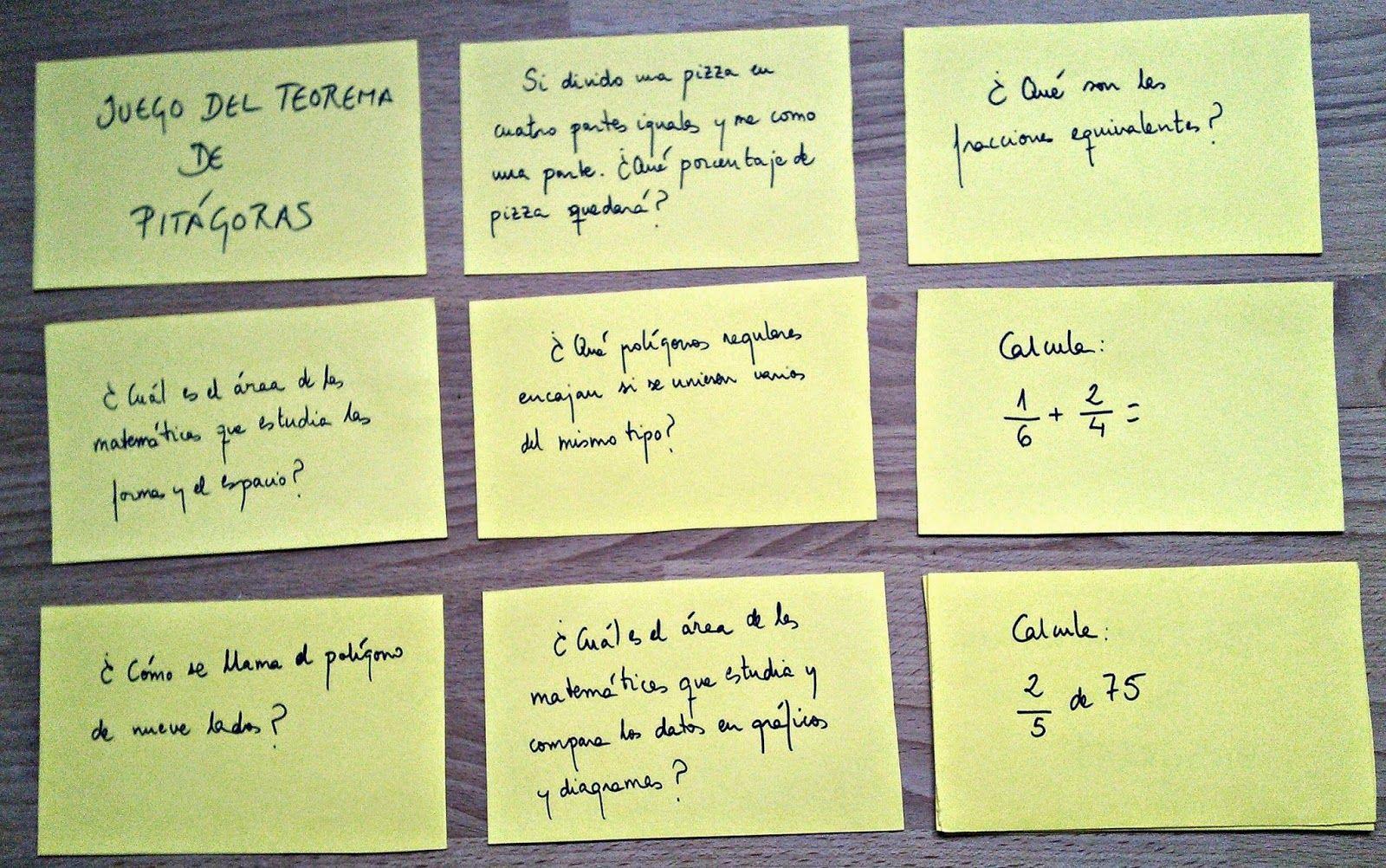 Tarjetas Con Preguntas Variadas Sobre Conceptos