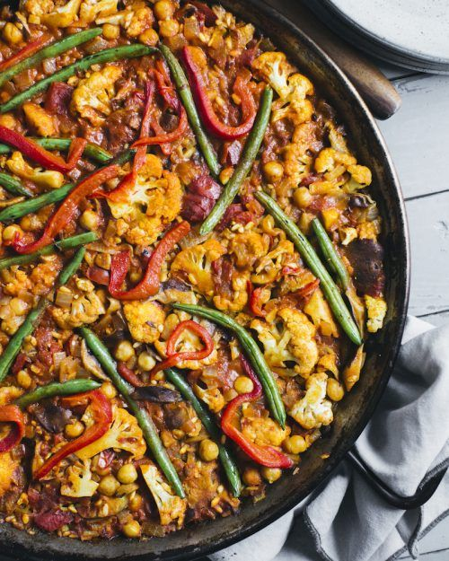 Veggie Supreme Paella from Pretty Simple Cooking (by my friends at A Couple Cooks!)