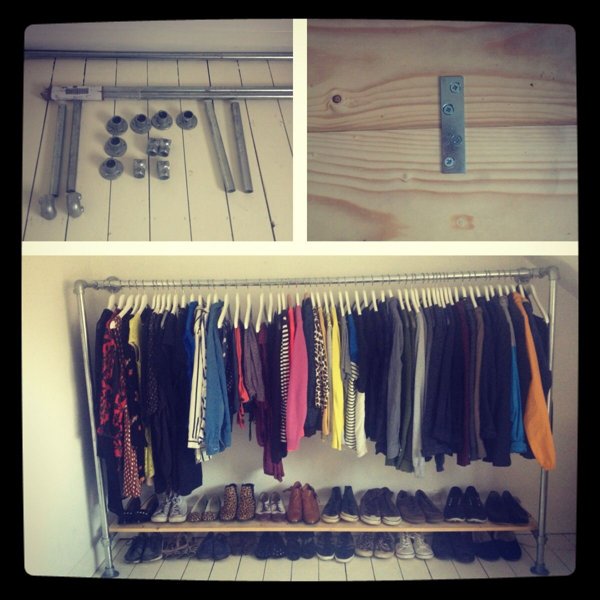 Completed scaffolding wardrobe   For the Home   Wardrobe ...