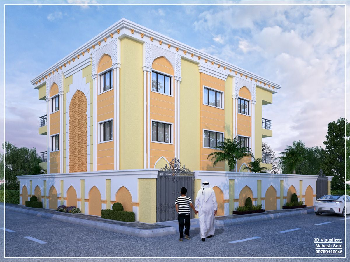 D Front Elevation Of Building : Islamic school d elevation by mahesh soni plan