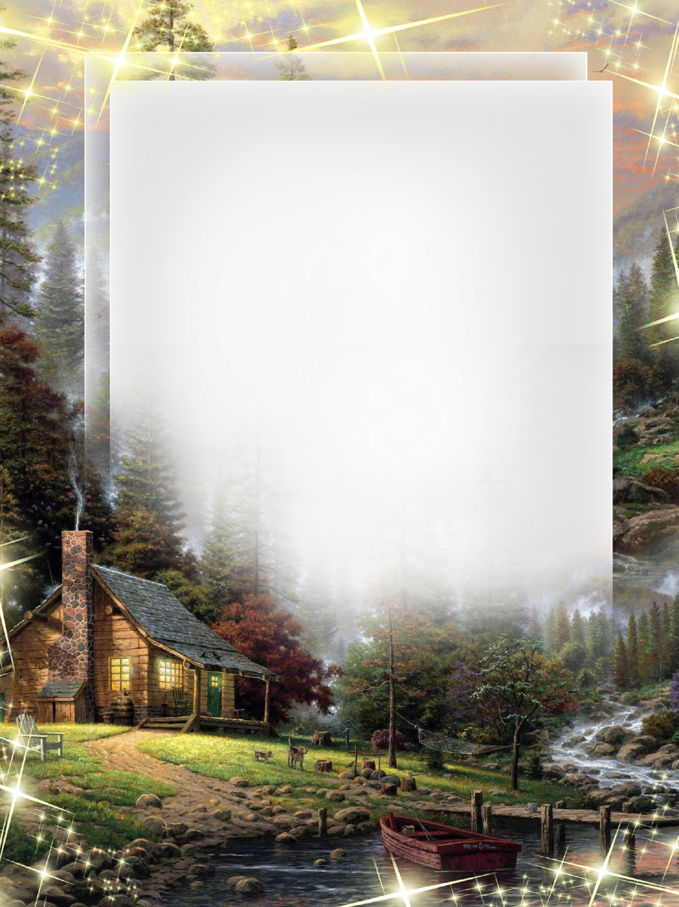 Nature-Photo-Frame-Forest-House.png (959×1280) | Clip-Art Father\'s ...