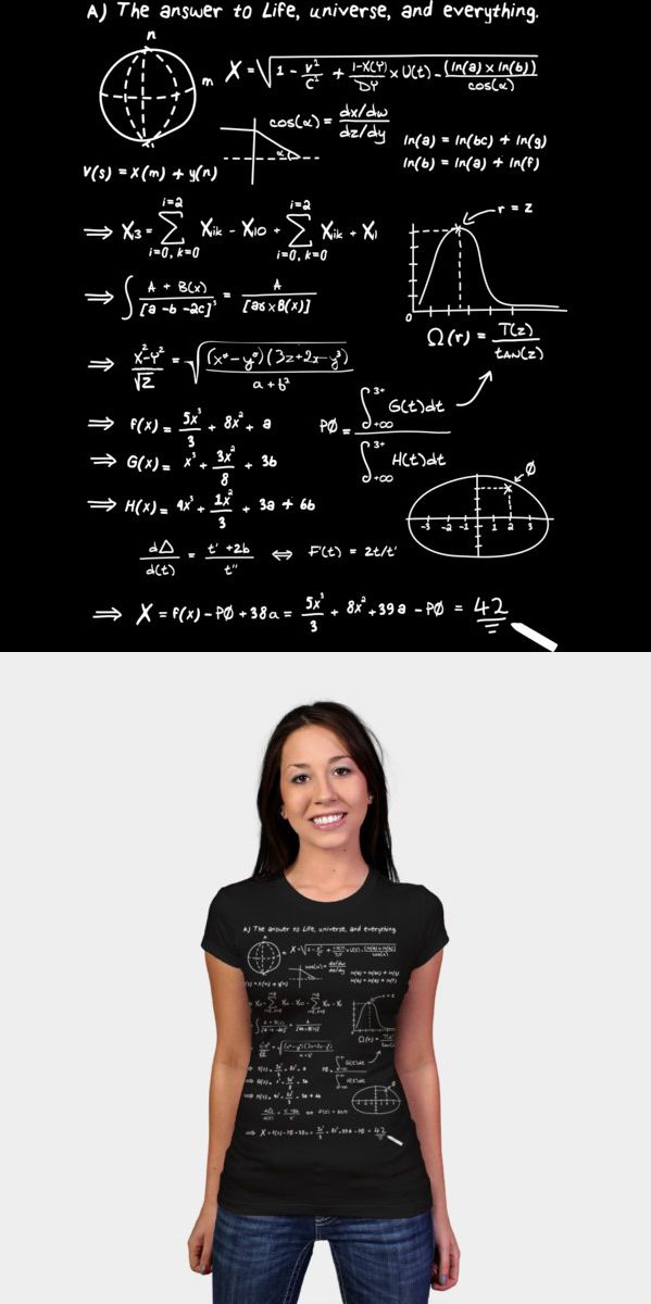 21 IS ONLY HALF the Truth T-Shirt 42 FUN GEEK style Nerd the Answer Number