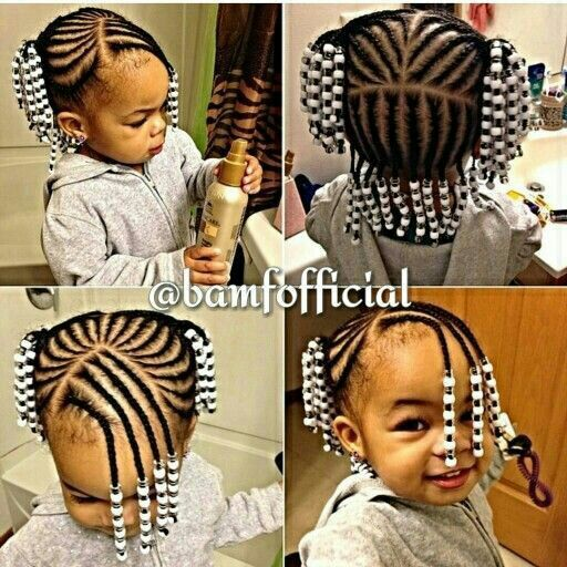 Braids Beads Naturalhair Toddler Braided Hairstyles Baby Girl Hairstyles Little Girl Braids