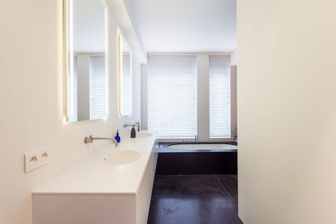 inrichting badkamer in een loft in hartje van antwerpen