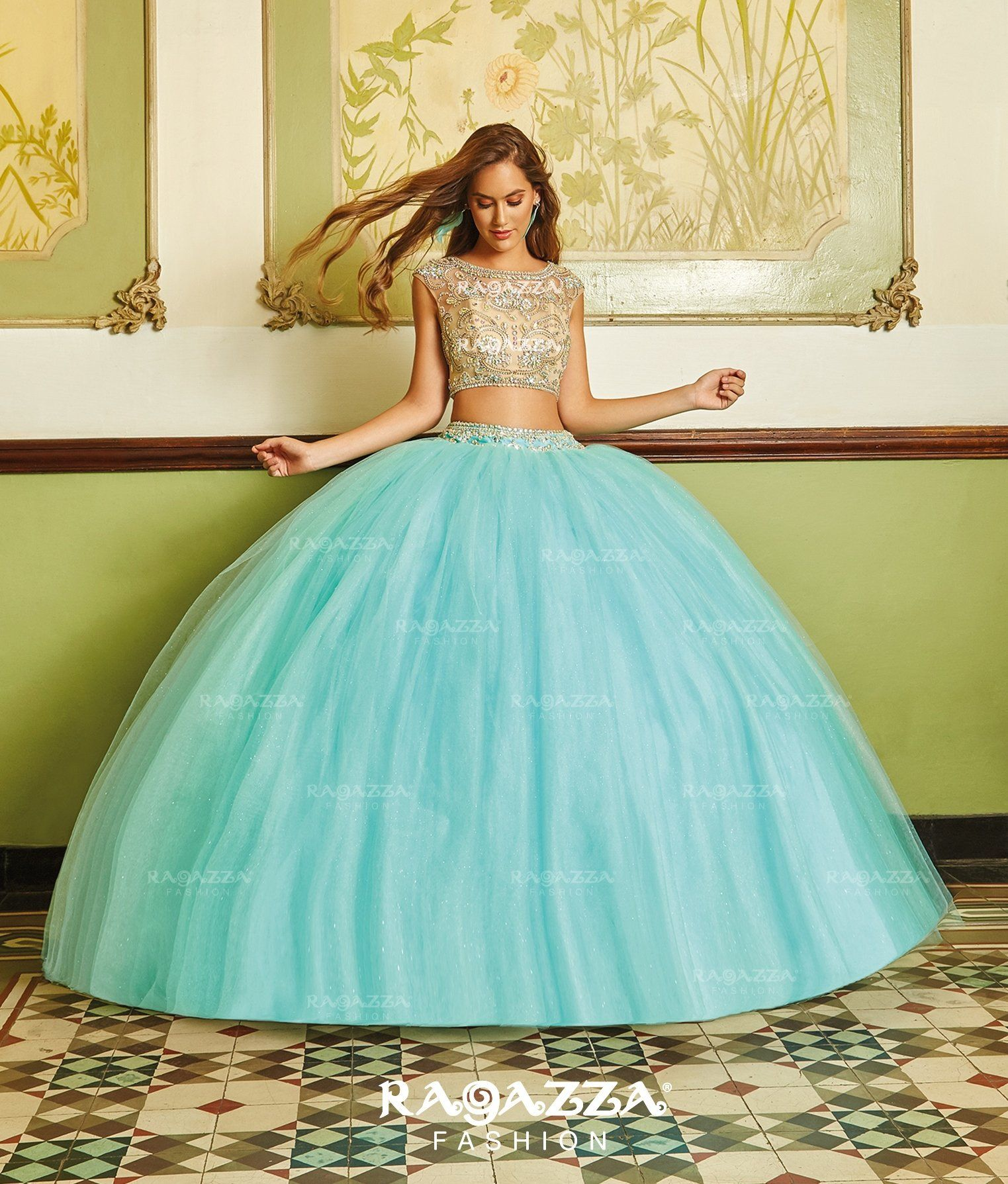 Two Piece Quinceanera Dress by Ragazza Fashion B88-388 | Sweet 15 ...