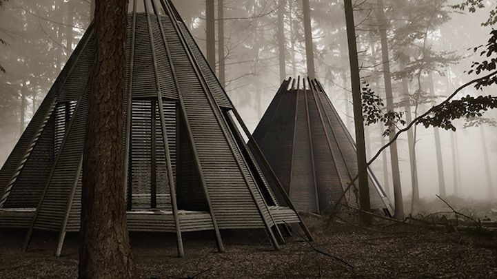 Interessting Idea for living outside. Customizable Tee-Pee Inspired Structure Can Double as a Raft - My Modern Met