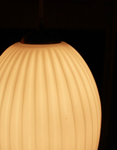 Suspension en verre des années 50 Galerie Nathalie Rives | Lampe ...