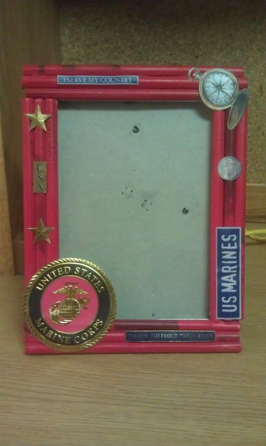 Marine Corps Frame Pinkobsessed86 Gettin Outdoorsy Pinterest