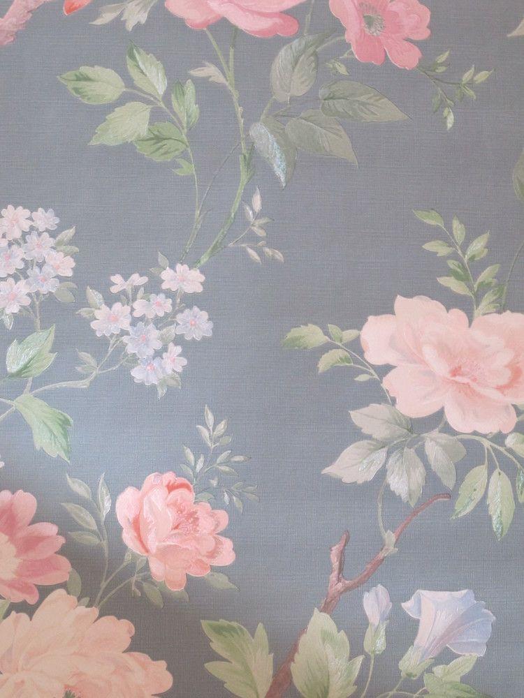 Papier Peint Vintage Fleuri Vintage Wall Paper Roll Antique
