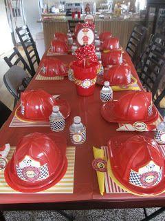 Anniversaire enfant th me pompier id e d co - Decoration anniversaire sam le pompier ...