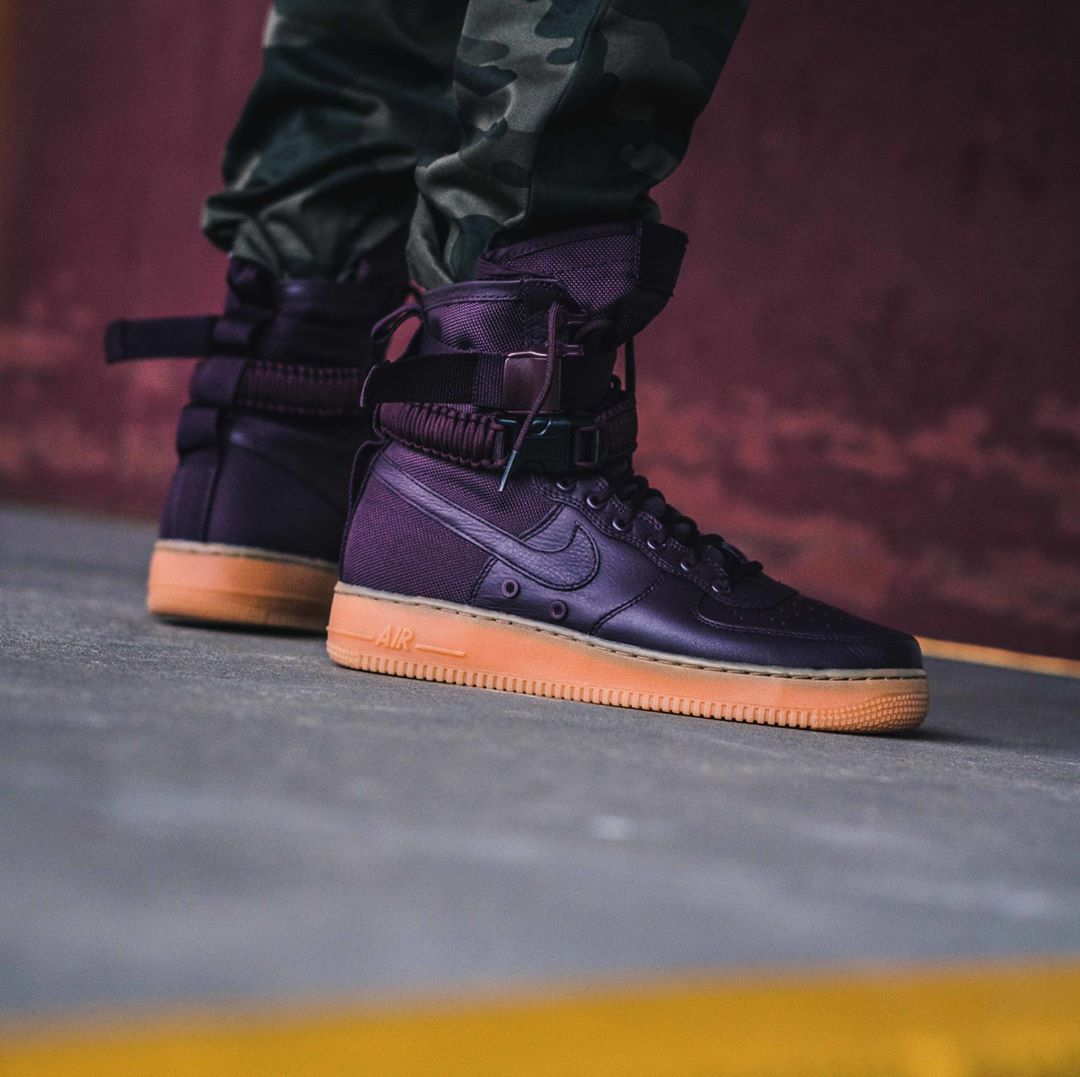 Nike SF Air Force 1 « Deep Burgundy » | Shoe boots, Nike