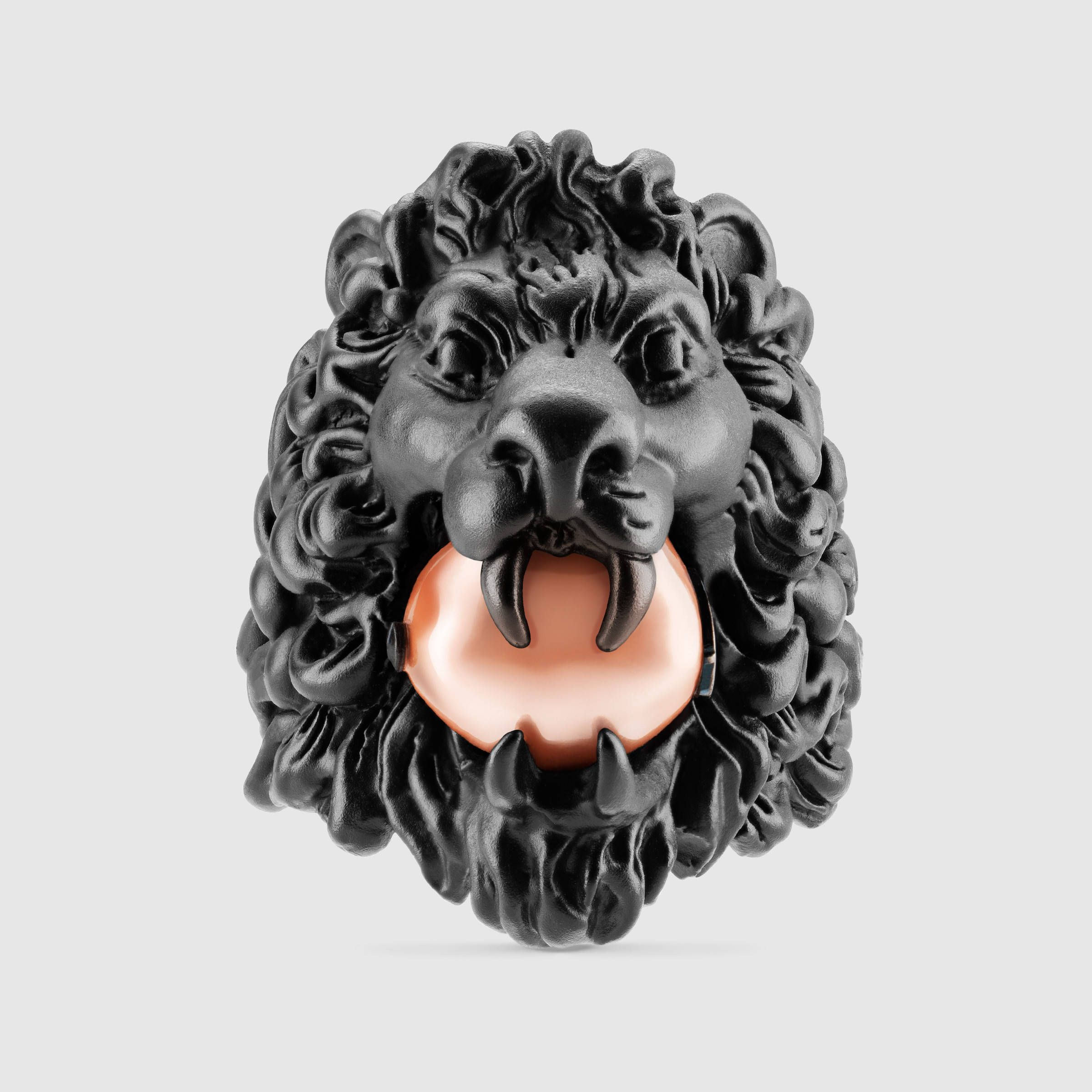 d8fc4bd3d Lion head ring with glass pearl - Gucci Rings $390 | Watches | Gucci ...