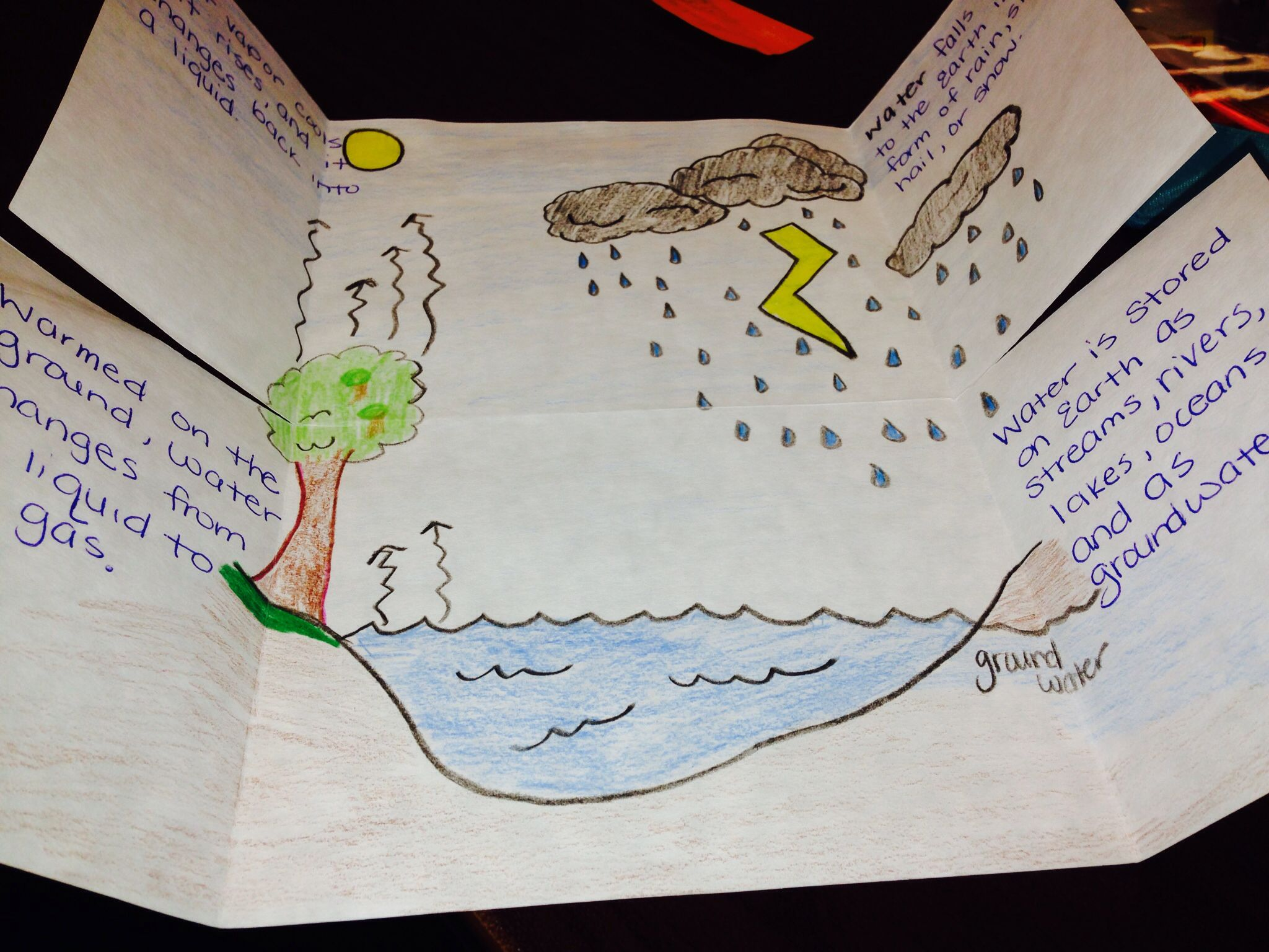 Water Cycle Foldable Students Study Each Part Of The Water Cycle Precipitation Condensation