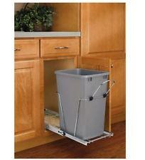 Kitchen Garbage Wastebasket Cabinet Pull Out Waste Basket Trash Can Bin 35  Qt.