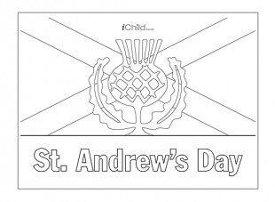 <p>This poster template can be coloured in, decorated and displayed, to celebrate St. Andrew's Day.</p>