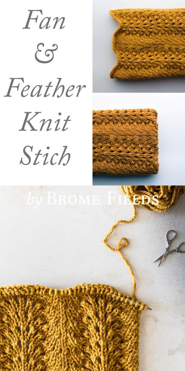 Fan and Feather Knit Stitch by Brome Fields | Knitting - Different ...