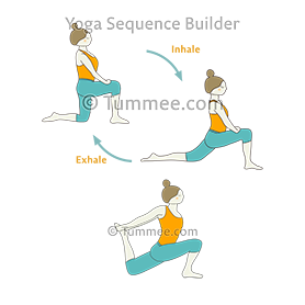 Bound Crescent Low Lunge Pose Flow Yoga Baddha Anjaneyasana Vinyasa Yoga Sequences Benefits Variations And Sanskrit Pronunciation Tummee Com Yoga Sequences Yoga Flow Vinyasa