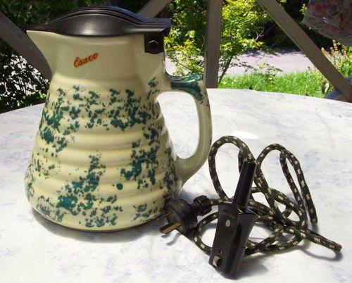 Unique Art Deco Vintage Essco Electric Ceramic Kettle Jug Working Ebay Kettle Electricity Jugs