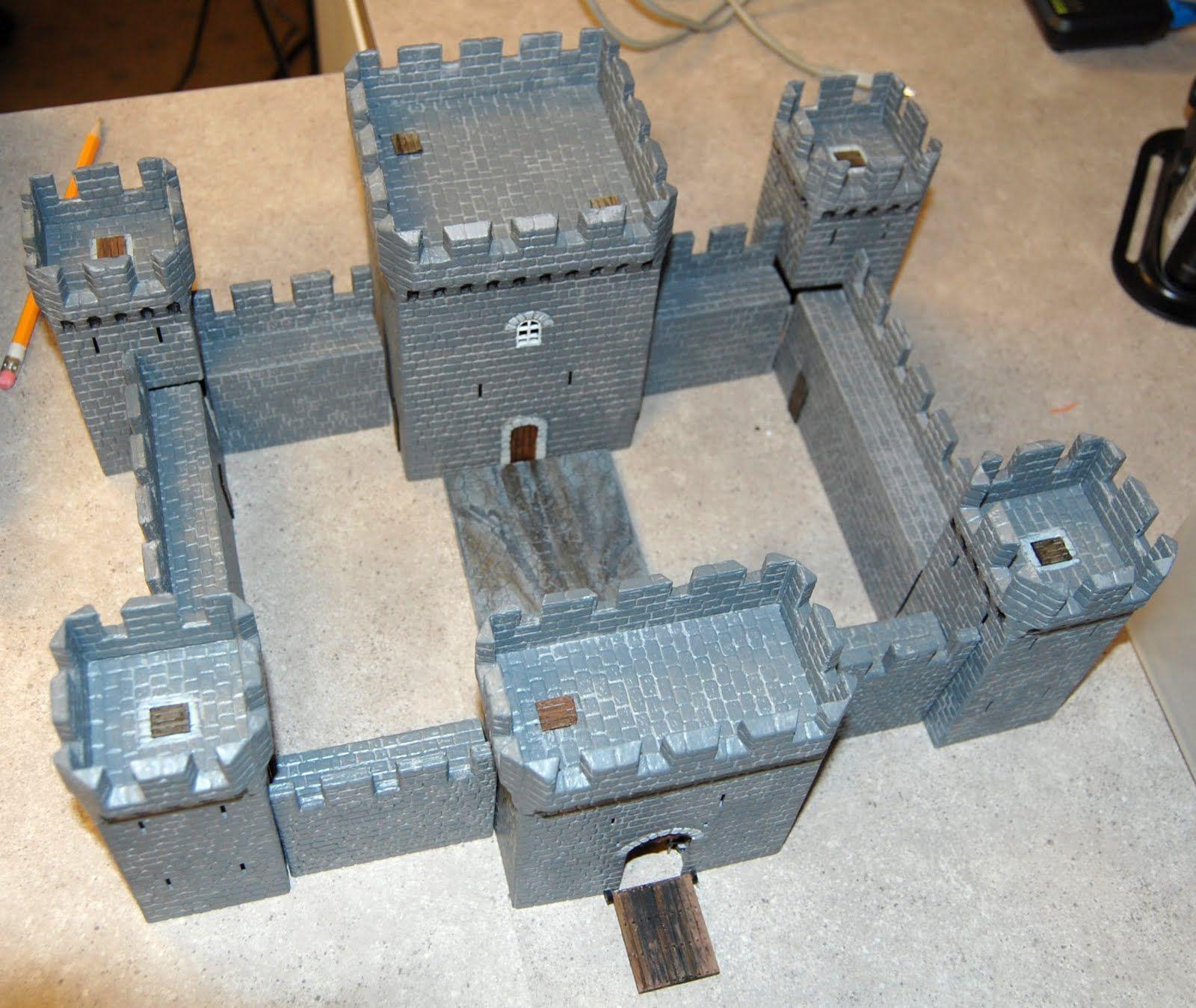 styrofoam+sheet+projects | two stone castles - part 2. | styrofoam