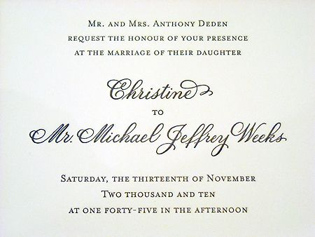 Wedding invitation with names designed in hand calligraphy wedding invitation with names designed in hand calligraphy copperplate script style stopboris Gallery