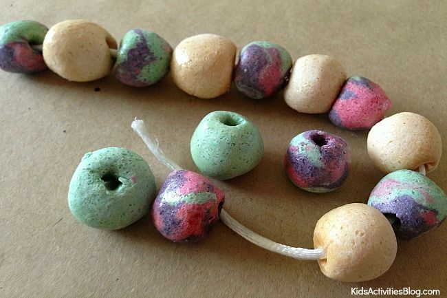Salt dough is easy to make and fun to use. We have a great salt dough craft for you - use colorful salt dough to make a bracelet with your kids.