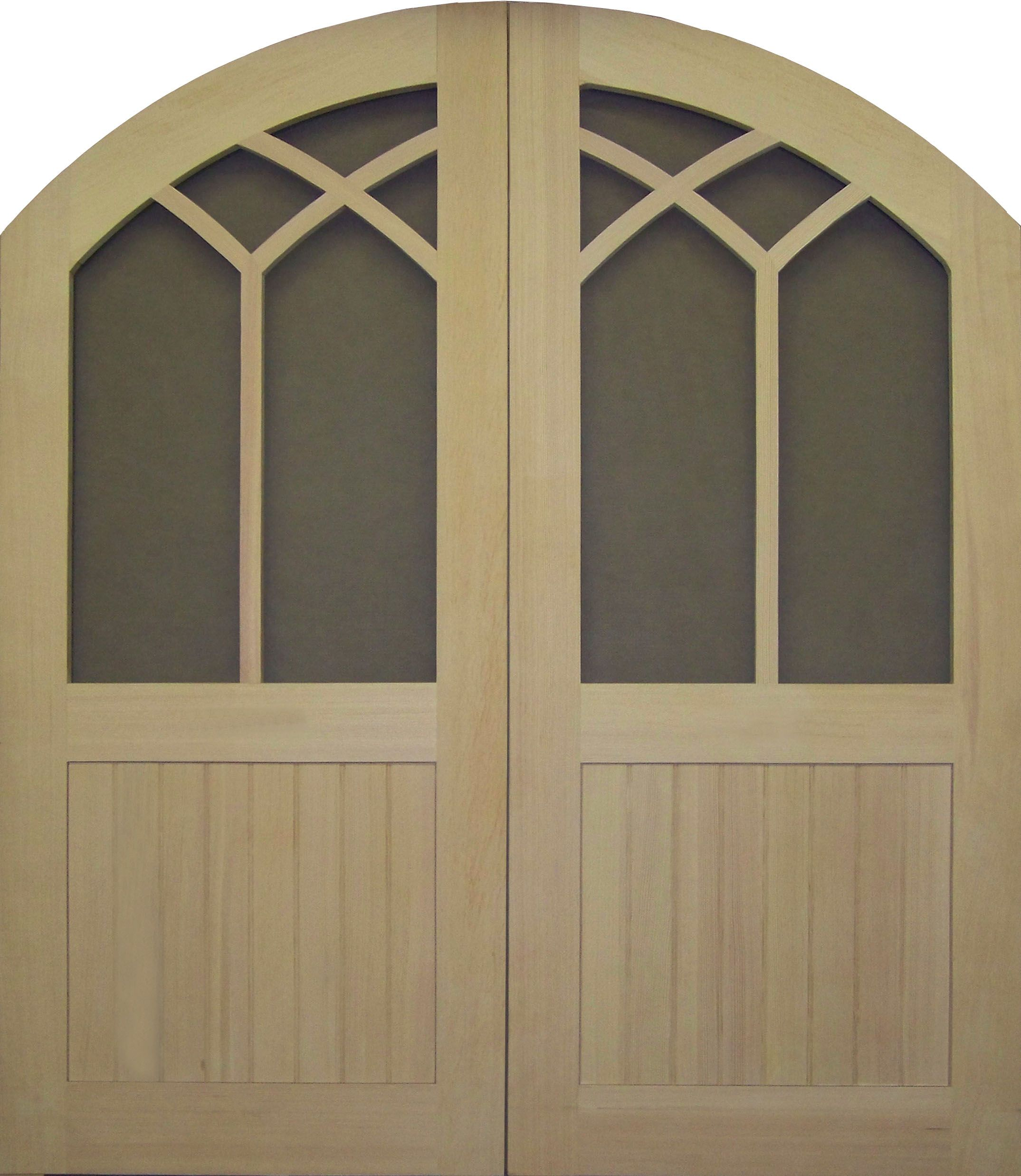 Round top front door window inserts - Arch And Round Top Screen Storm Door Double Round Top Custom Design Www