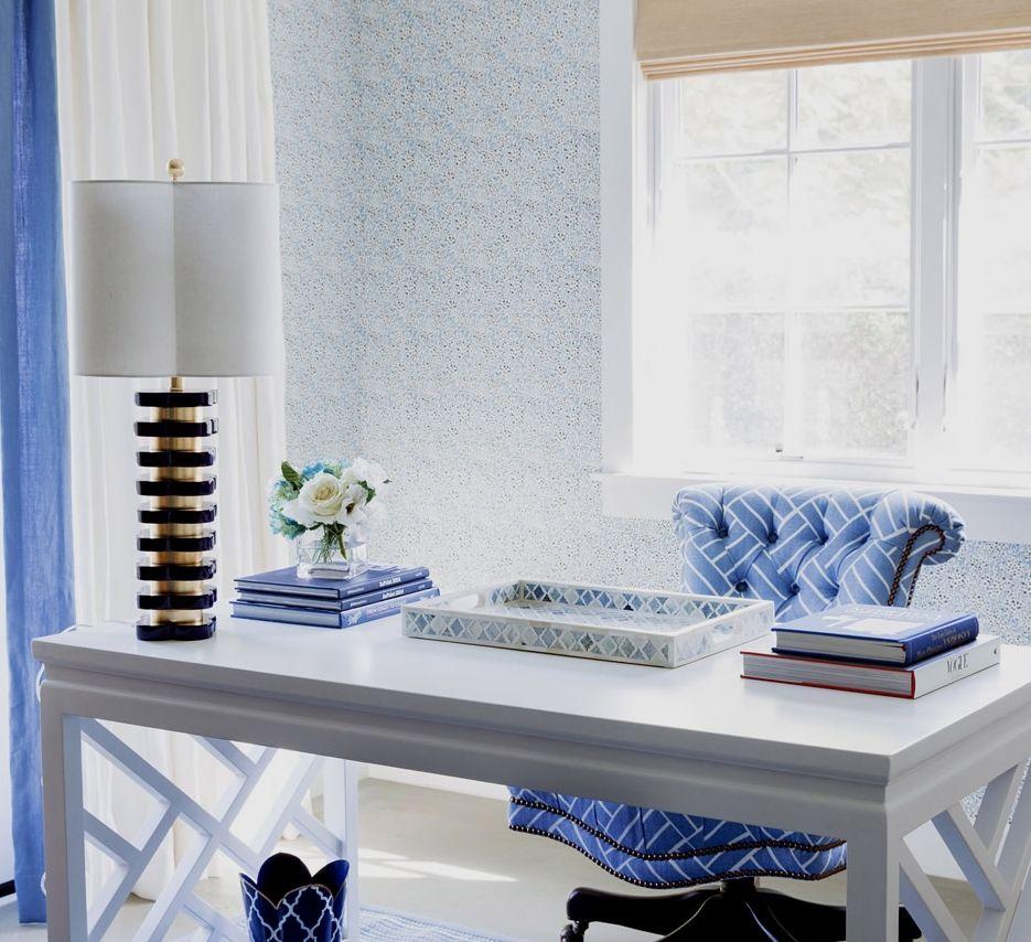 40 Elegant Blue Office Decor Ideas Zyhomy Blue Office Decor Blue Home Offices Home Office Decor