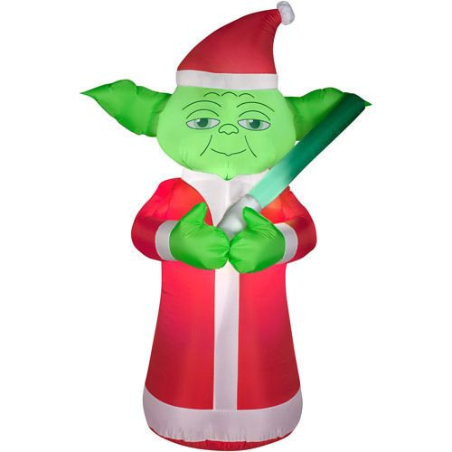Christmas Inflatable Yoda Yard Lawn Blow Up Decorations Home Star Wars Christmas Christmas Props Christmas Inflatables
