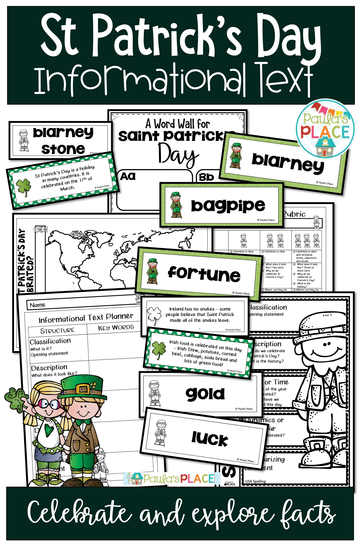 Saint Patrick S Day Informational Text
