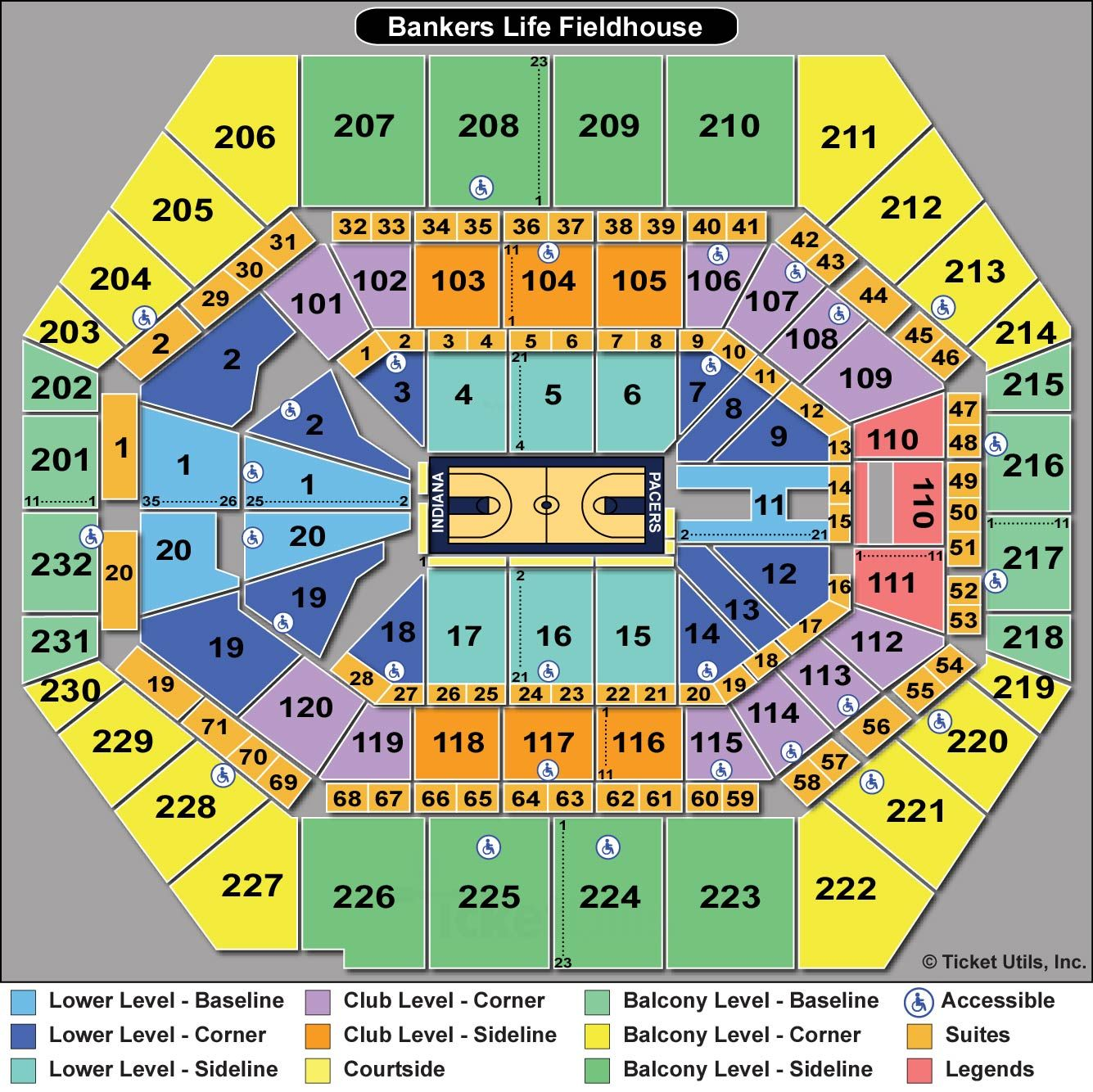 Bankers life fieldhouse suite seating chart google search