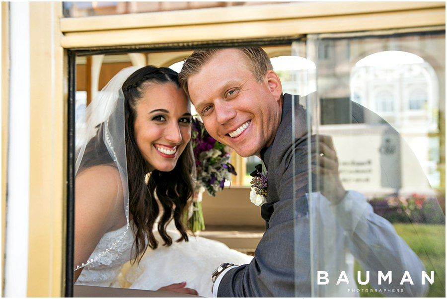 Joyful couple!   USD Founders Chapel Wedding, Photography by Bauman Photographers  http://baumanphotographers.com/blog/uncategorized/2015/11/darlington-house-wedding/