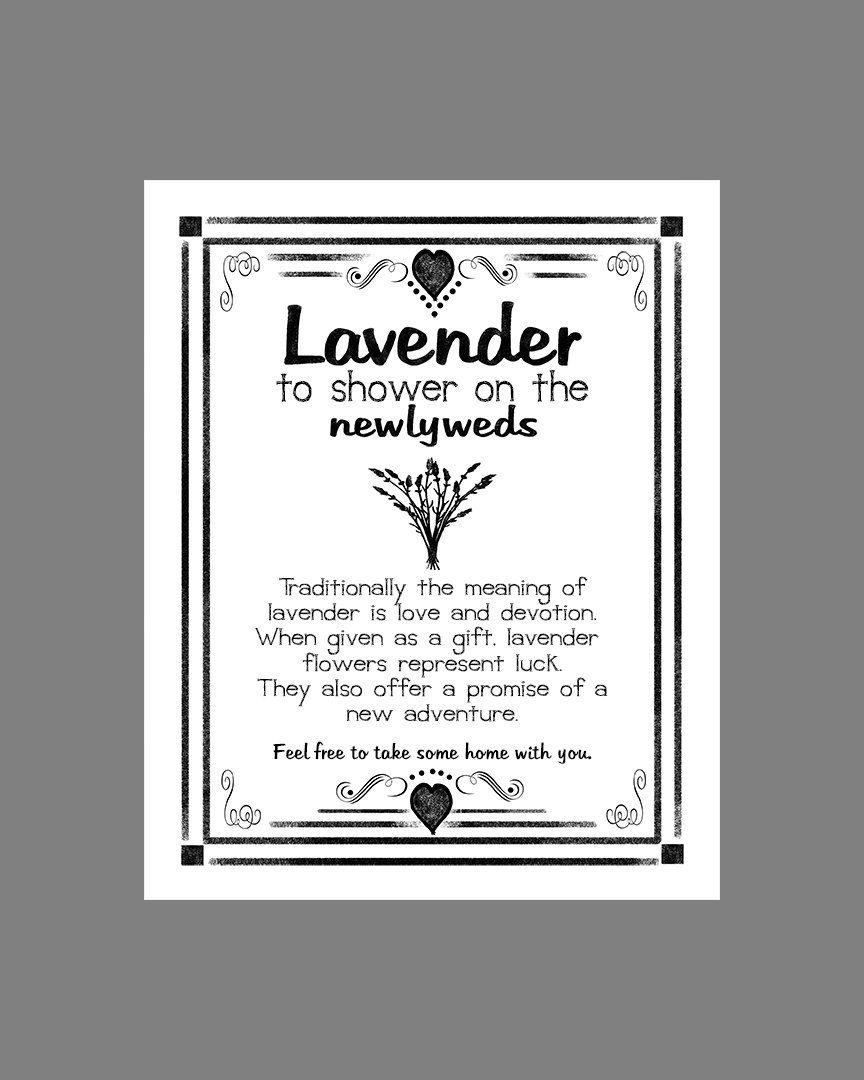 Wedding Lavender Toss Sign Reservse Chalkboard by PSPrintables