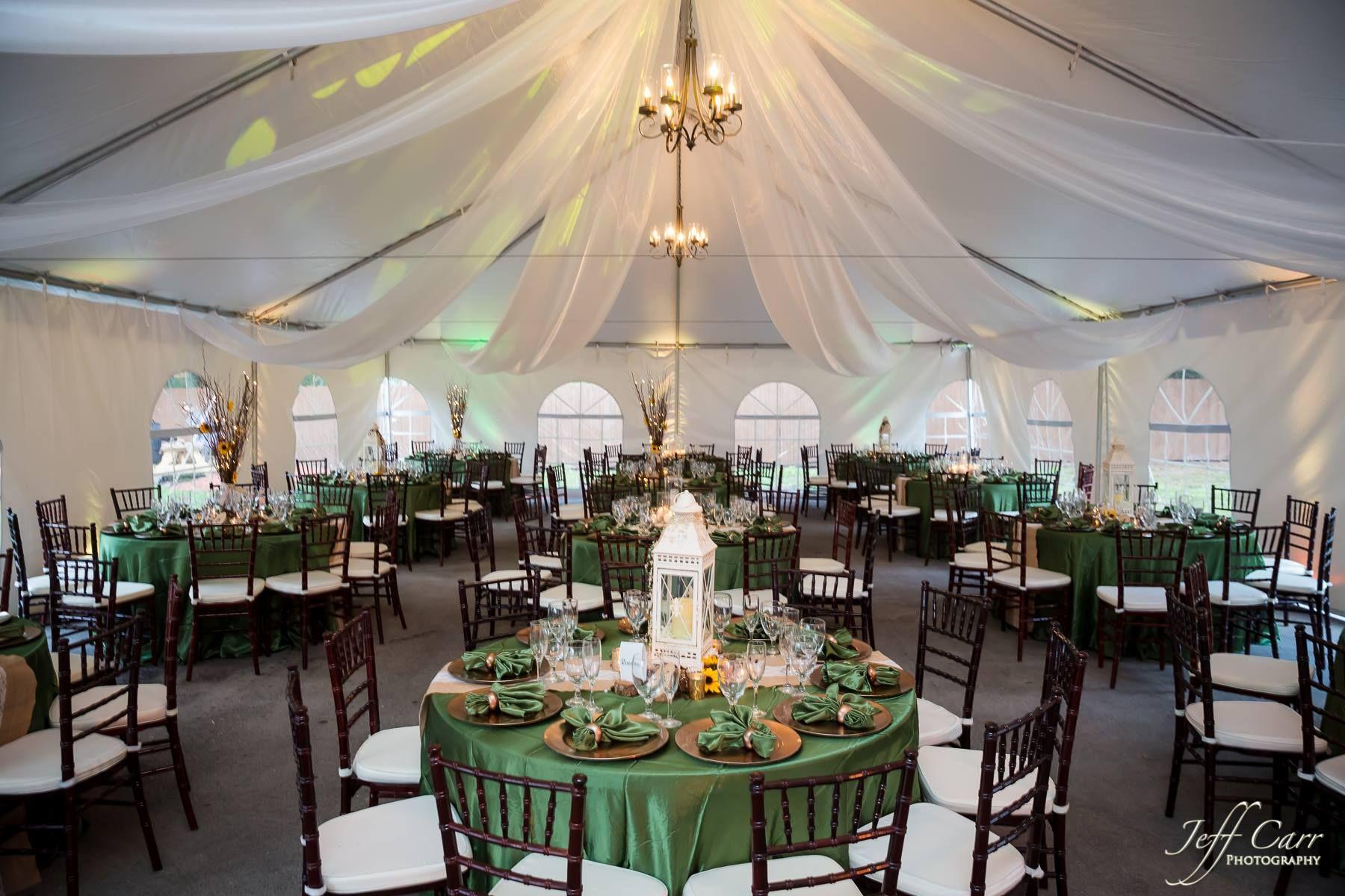 Wedding Tent Green Wedding Chiavari Chairs Draping Table Setting Inspiration Photo C Wedding Table Settings Wedding Catering Table Setting Inspiration