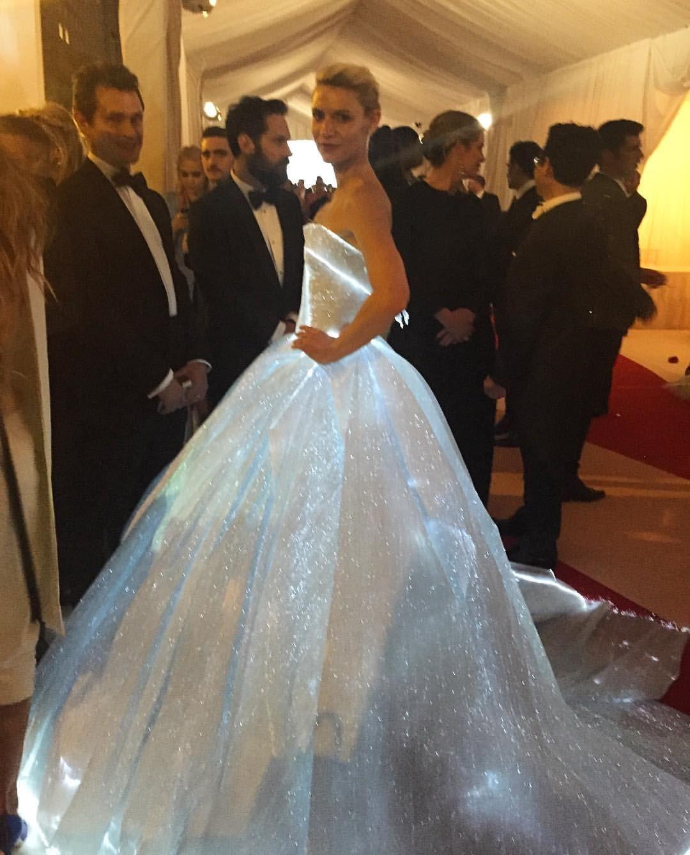 Fiber optic wedding dress  Zac Posen KILLS IT for Clare Danes MetGala  FASHION  Pinterest