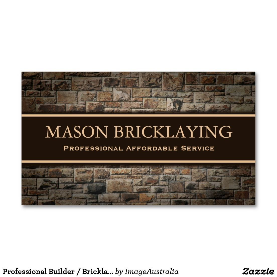 Professional Builder / Bricklaying Business Card | Business Cards ...