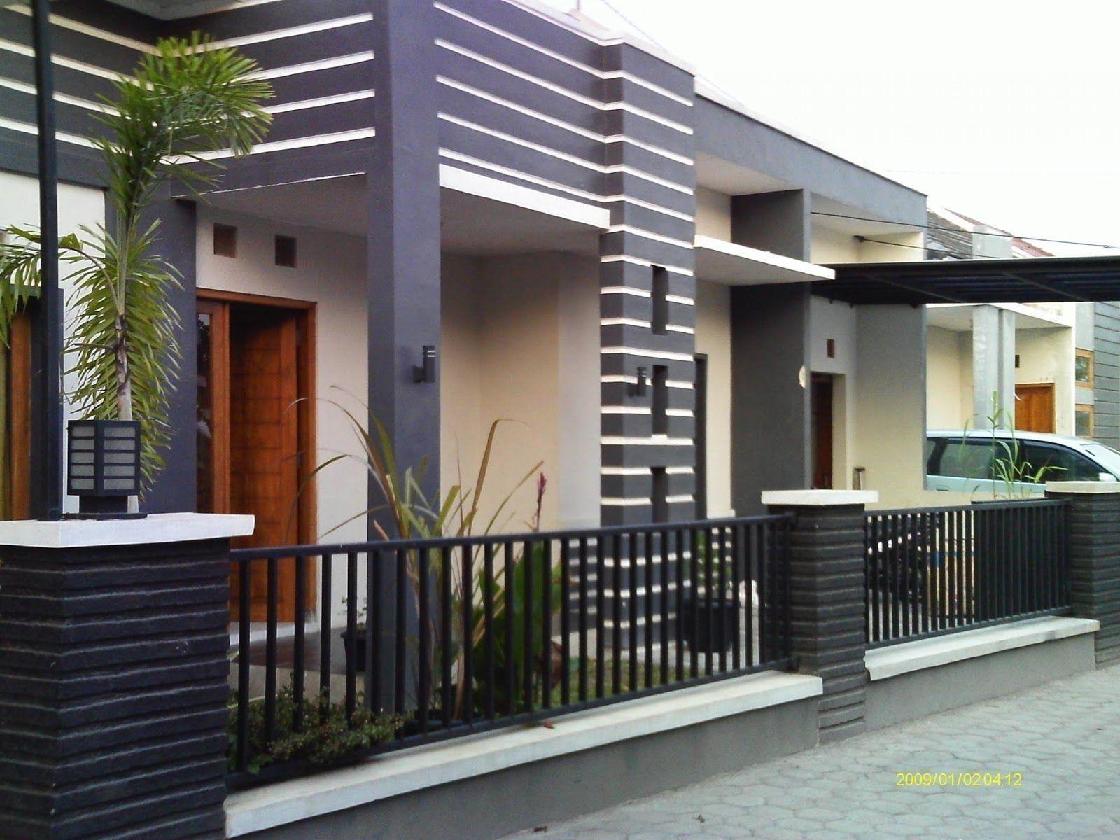 Desain Pagar Samping Rumah Cek Bahan Bangunan