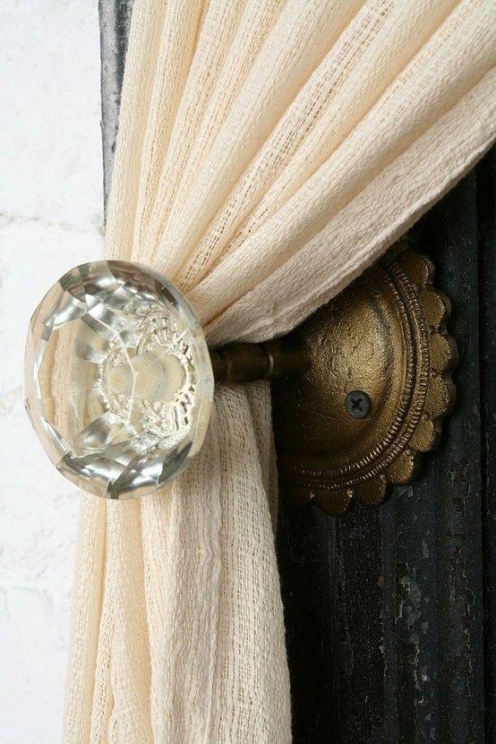 antique door knobs Antique Door Knob Curtain Tie-Back - 10 Trendy