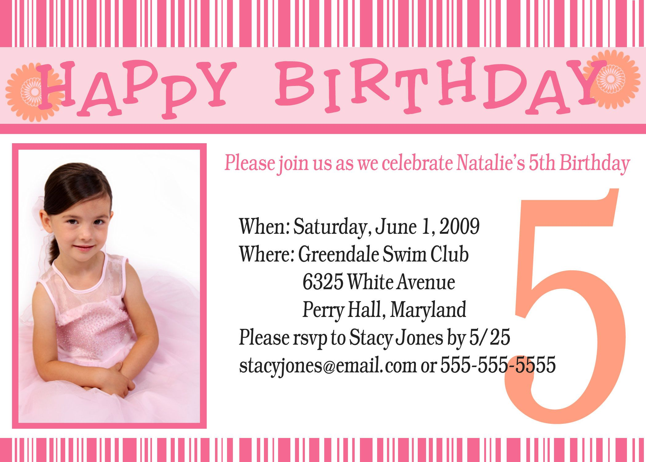 Birthday Party Invitations Invitation