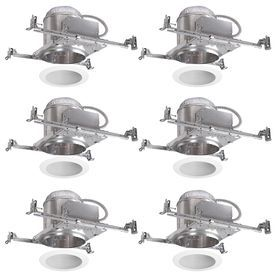 fbca3338e97 Halo White 6-in New Construction Recessed Ceiling Lighting Kit ...