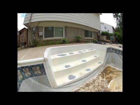 Repairing Vinyl Liner Cracked Pool Stairs Youtube Pool Steps Swimming Pool Steps Vinyl Pool