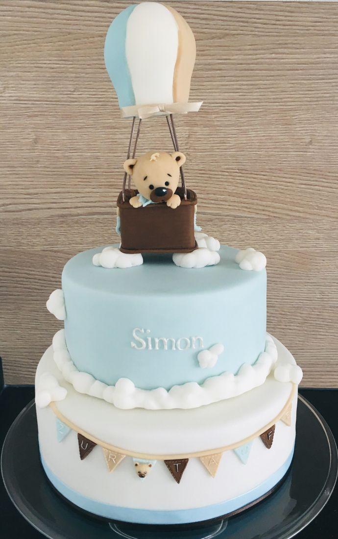 Oben Im Himmel Tauftorte Taufe Kuchen Geburtstag Torte Junge