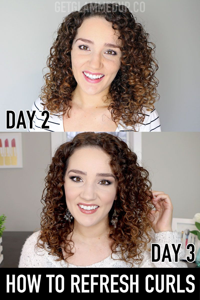 How To Refresh Curly Hair For Beginners In 2020 Refreshed Curls Curly Hair Styles Curly Hair Styles Naturally