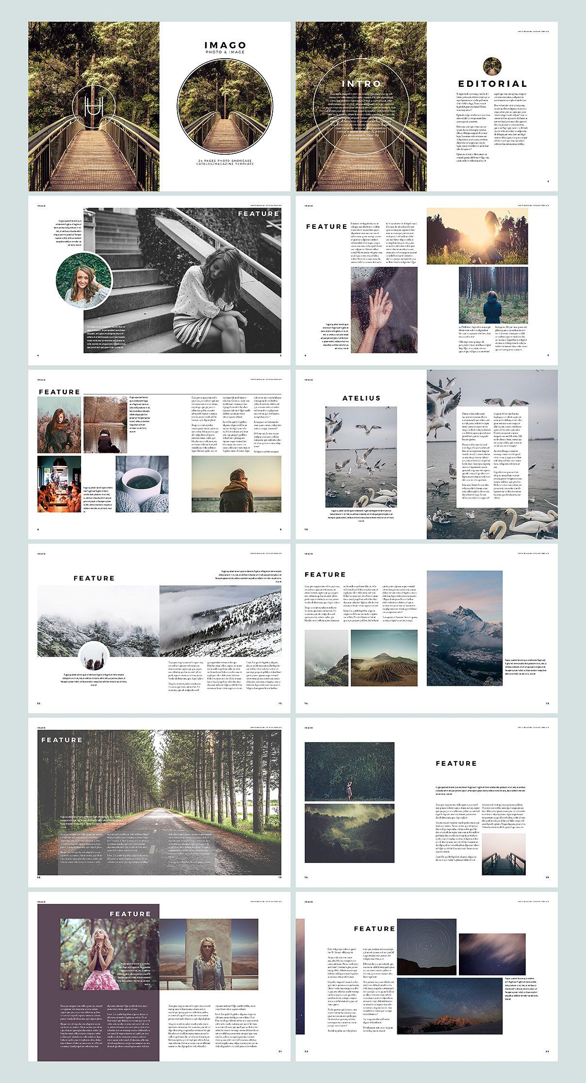 Imago Indesign Template By H Utomo On Creativemarket Ppt排版