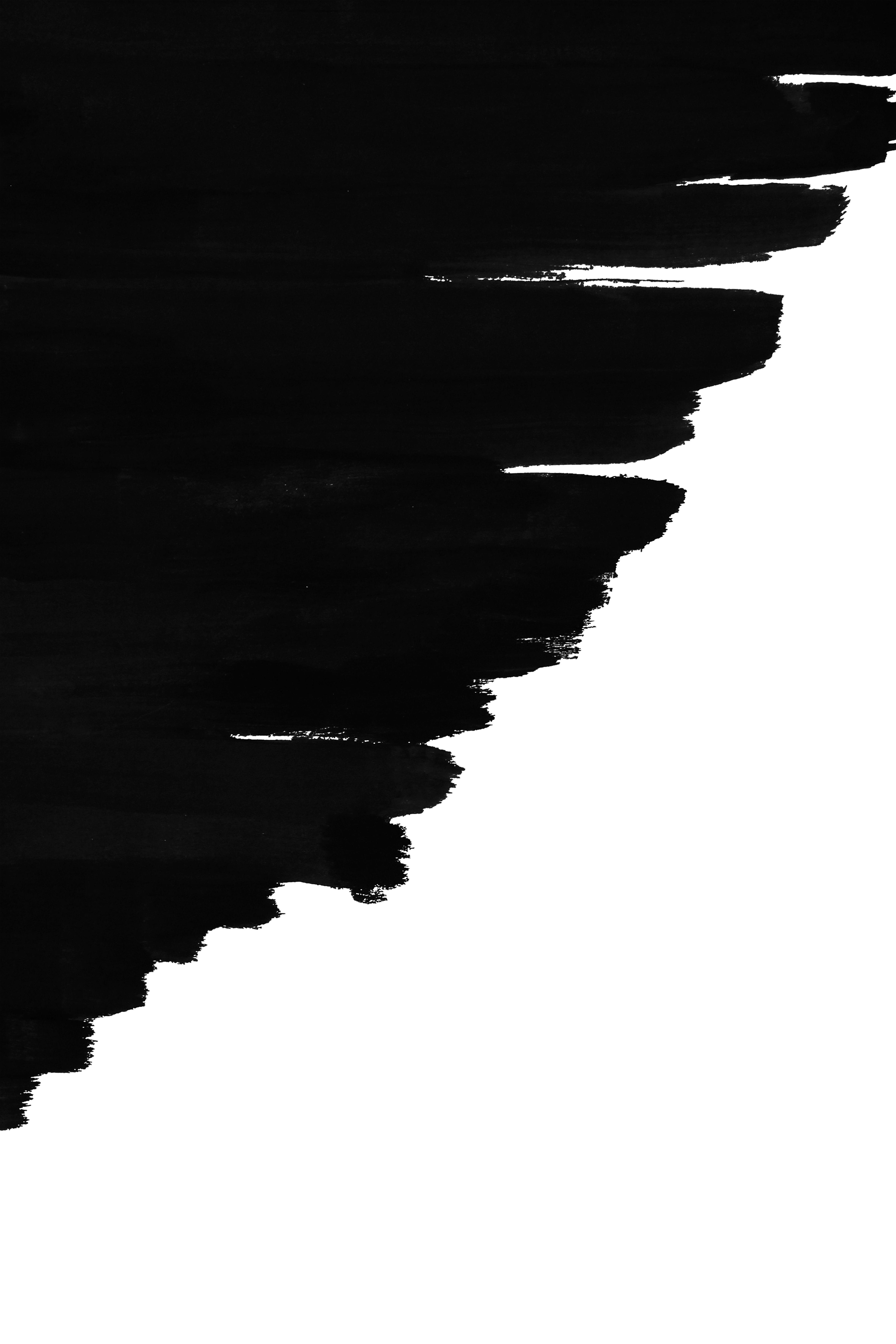 Black Minimalist Poster Print Artprint Handmade Acrylic Paint