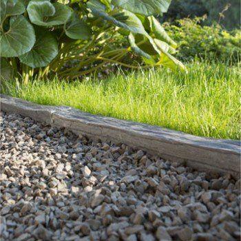 Piquet droite ardoise noir h 8 x l 100 cm leroy merlin ext rieur chemin - Bordure jardin ardoise ...