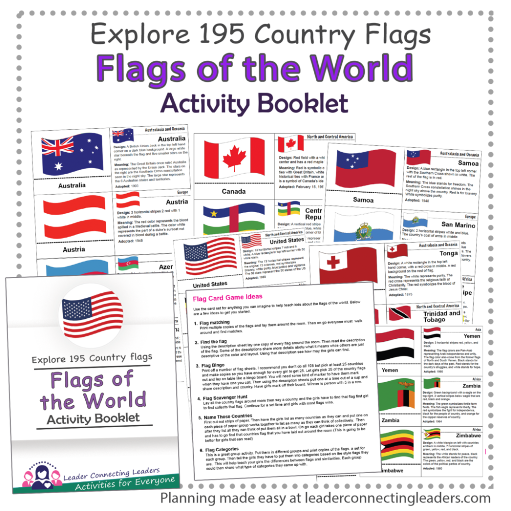 Flags Of The World Activity Booklet Leader Connecting Leaders Flags Of The World Booklet Have Fun Teaching